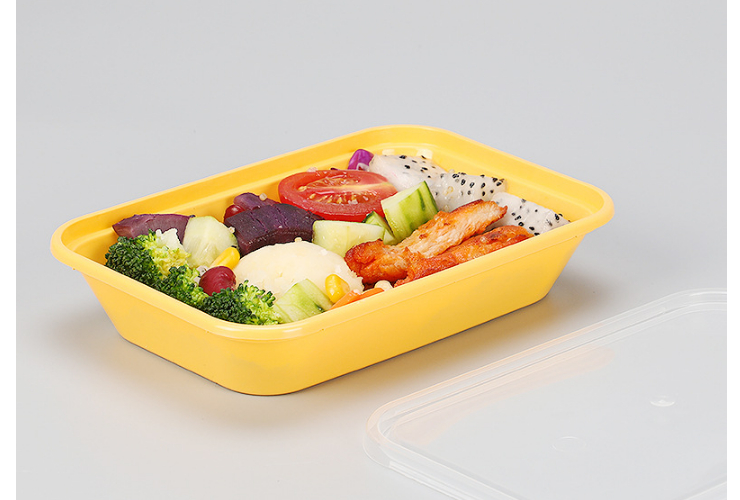 (Box / 300 Sets) Disposable Lunch Box Double Layer Plastic Packaging Box Takeaway Salad 350Ml Fast Food Box (Including Home Delivery)