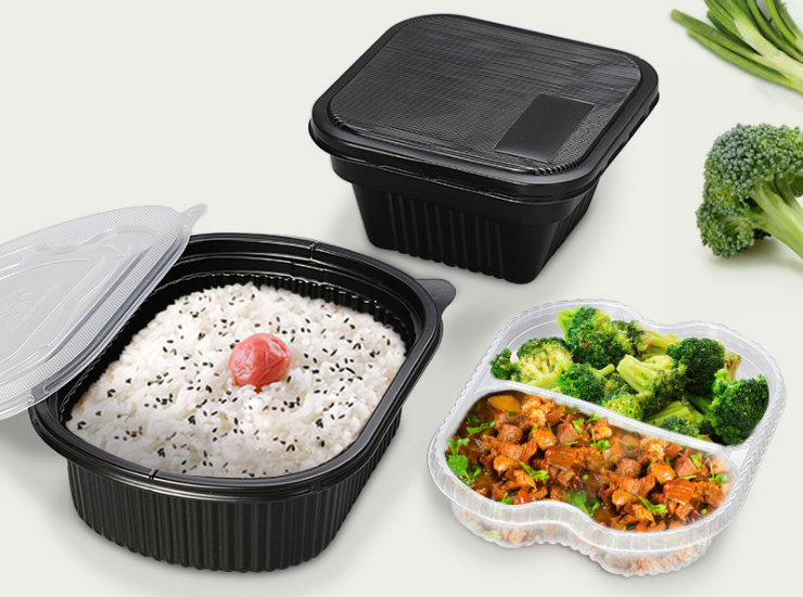 (Box / 200 Sets) Disposable Lunch Box Double Pp Plastic Take-Out Packed Fast Food Box (Including Door Delivery)