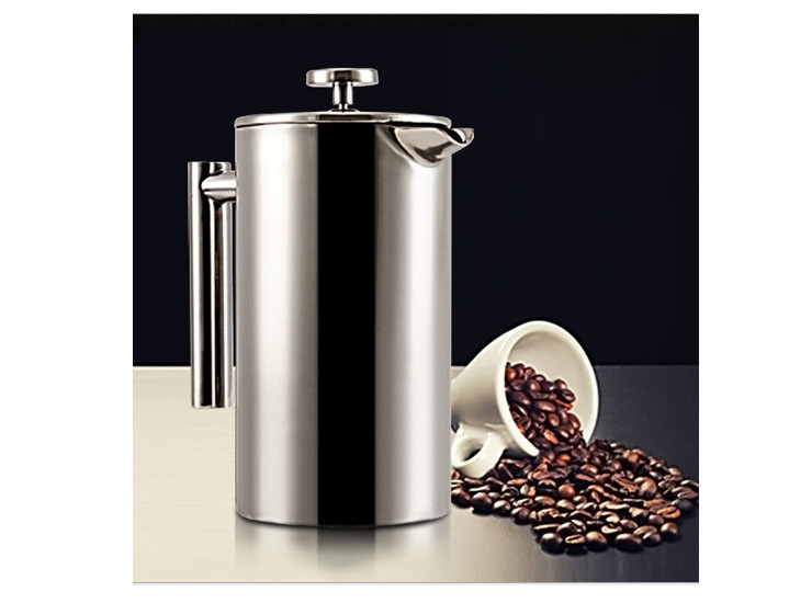 Double Layer Stainless Steel Coffee Pot French Coffee Press Pot Pot Insulation Pot