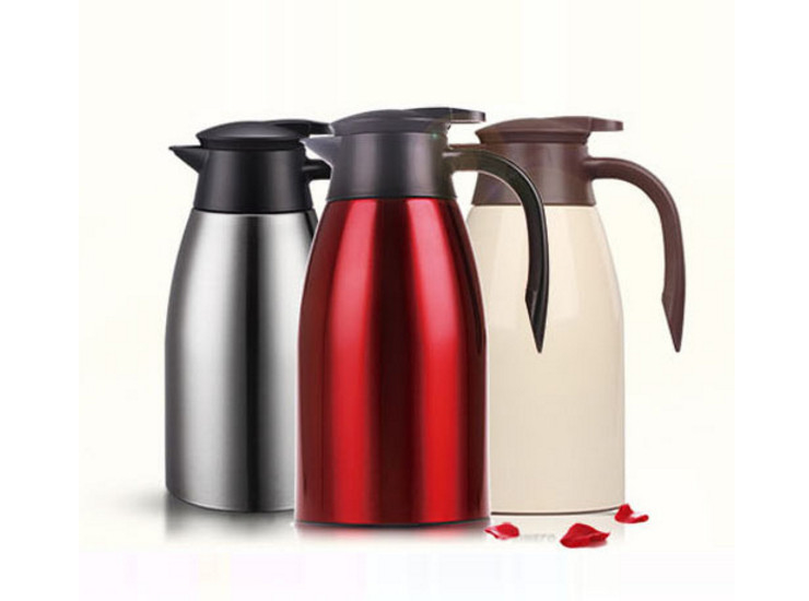 Double-Layer Stainless Steel Hotel With Large Capacity Insulated Coffee Pot 2L