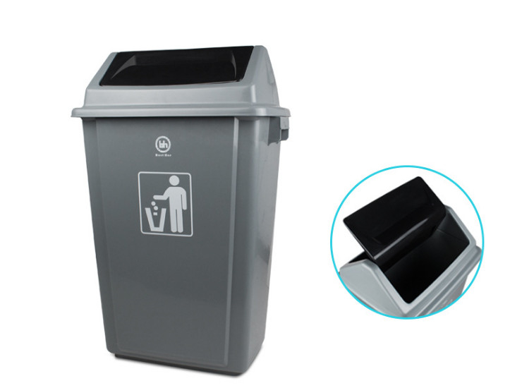 Double-Sided Shake The Lid Trash Wear Thick Trash Creative European-Style Environmental Barrels 60L