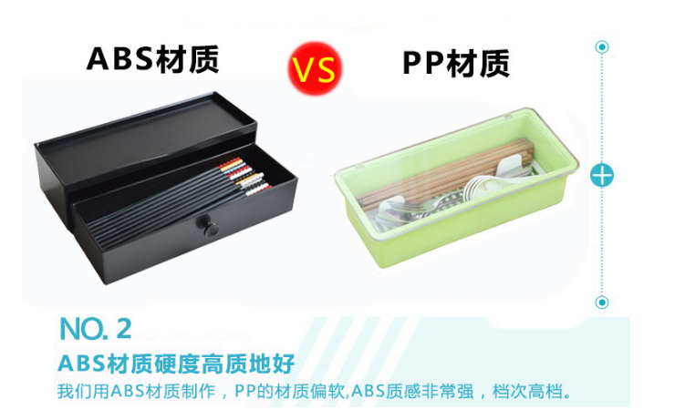 Drawer Type Chopstick Box Spoon Box Can Be Drained Can Be Superimposed Anti-Mold Multifunctional Kitchen Storage Box