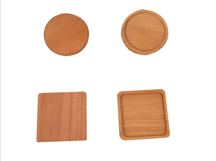 Elm Teacup Wooden Coaster Creative Kung Fu Tea Set Home Placemat Cup Holder Solid Wood Small Plate Wooden Coaster
