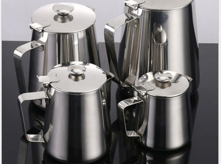 Exported With Thickened Stainless Steel With Lid Pull Flower Cup Cups And Cups And Coffee Pots