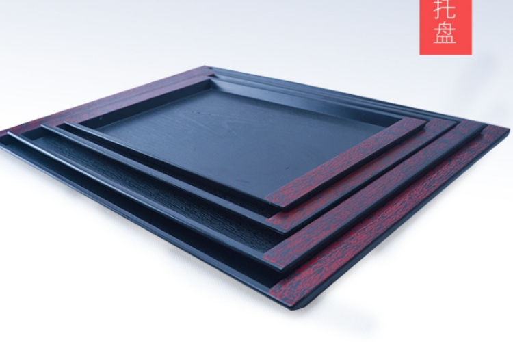 Antiskid Thickened Rectangular Plastic Tray