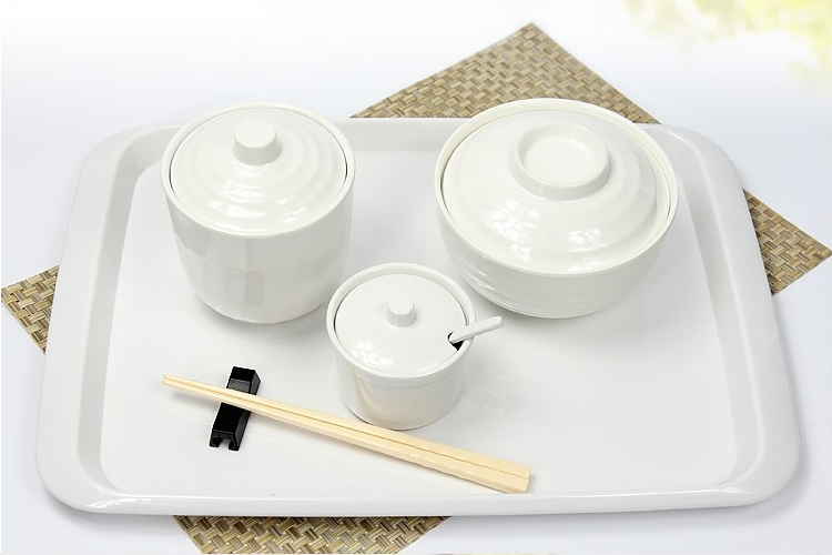 A5 Melamine Steaming Cup with Lid Stew Soup Bowl