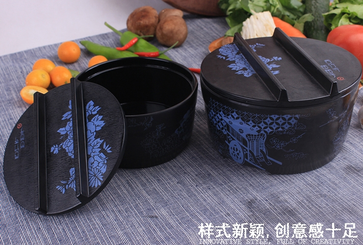 Melamine Ceramics-like Japanese-style Flower-pattern Noodle Bowl Multi-use Bowl Set