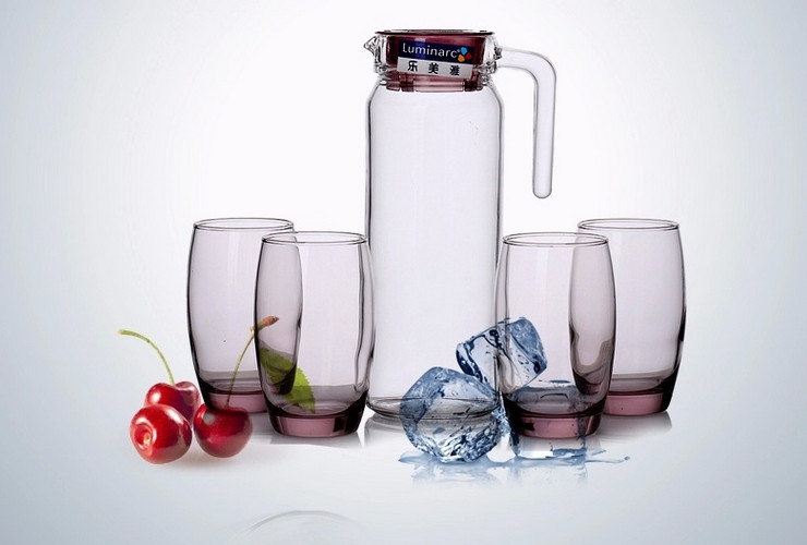 France Luminarc Heat-resistant Tempered Glass Drinkware of 5 Piece Set