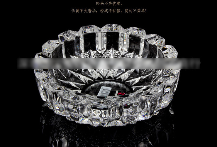 Blink Max Brand Big-sized Crystal Ashtray