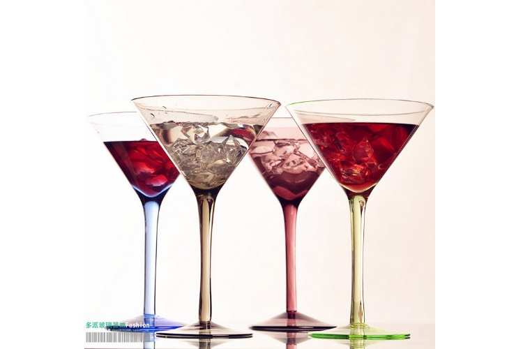 4 Colors Cocktail Glasses Triangular Glasses Martini Glasses