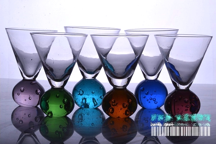 Colorful Glass Creative Sparkling Glasses Wine Glasses Cocktail Glasses Accessories Decorations Bar