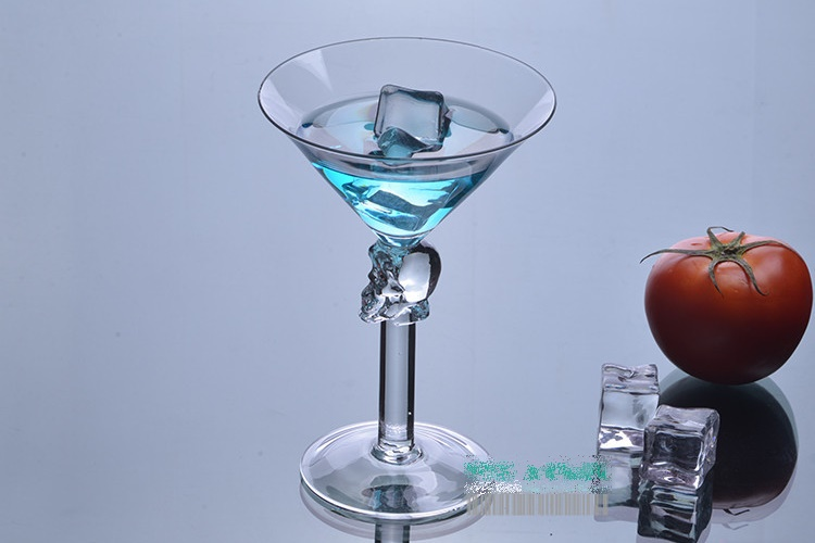 Creative Skull Cocktail Glasses High-leg Glass Martini Glasses