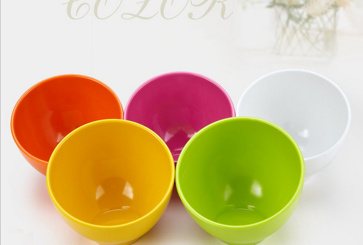 High-class A5 Melamine Ceramic-like Colorful Ball-shaped Tilted-mouth Buffet Sauce Bowl Vegetable Bowl