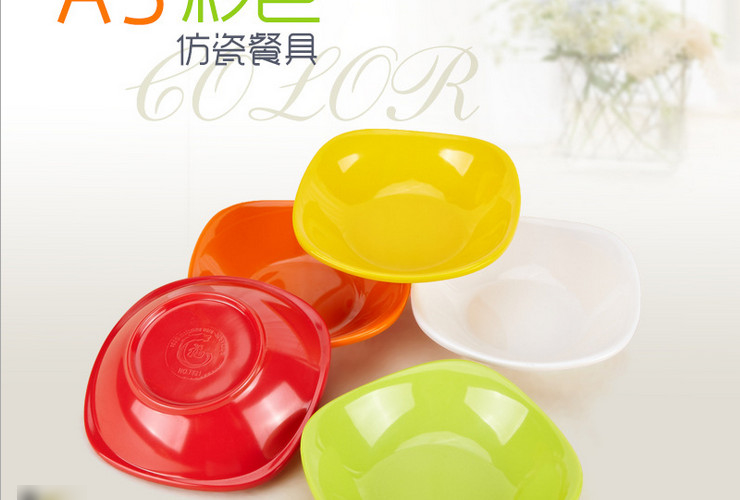 High-class A5 Melamine Ceramic-like Colorful Square Cold Food Plate Peanuts Seasoning Sauce Plate