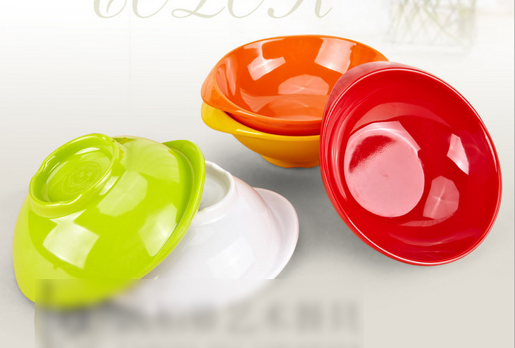 High-class A5 Melamine Ceramic-like Colorful Duck-tongue-shaped Bowl