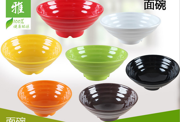 High-class A5 Melamine Ceramic-like Colorful Soup Noodle Bowl Japan-style Noodle Bowl