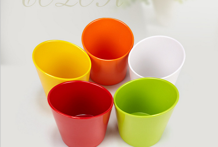 High-class A5 Melamine Ceramic-like Colorful Creative Tilted-mouth Bowl Hotpot Vegetable Bowl Colorful Bowl