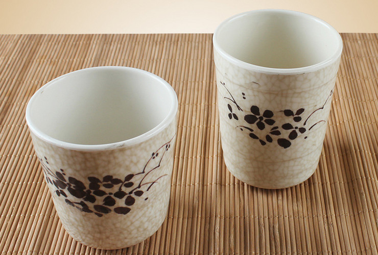 Melamine Ceramic-like Lotus-pattern Straight-body Cup Water Cup