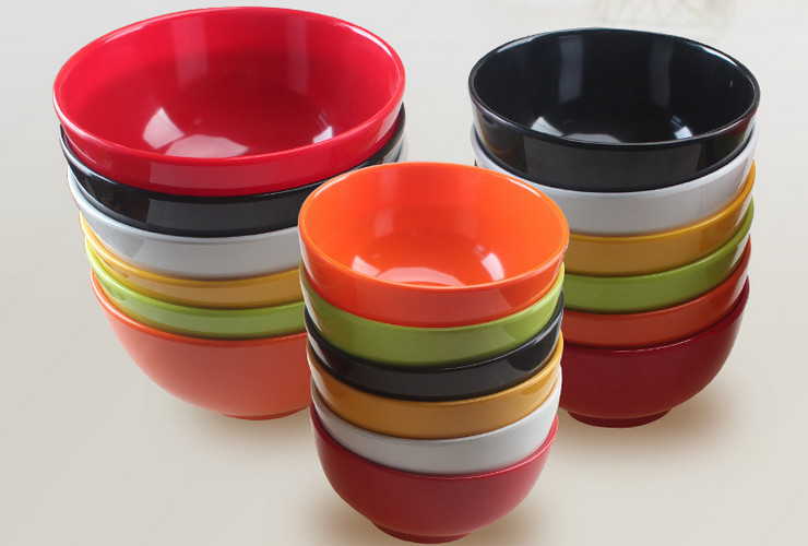 High-class A5 Melamine Ceramic-like Colorful Rice Bowl Big Bowl Soup Bowl Salad Bowl