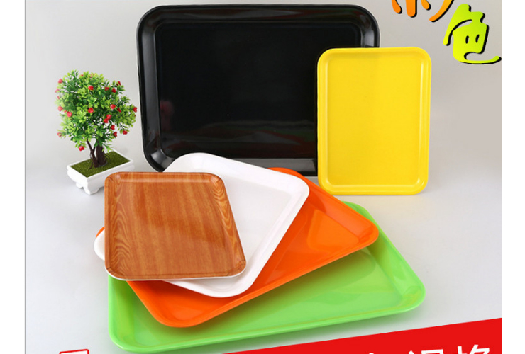 Rectangular Fast-food Shop Tray Cup Bowl Tray