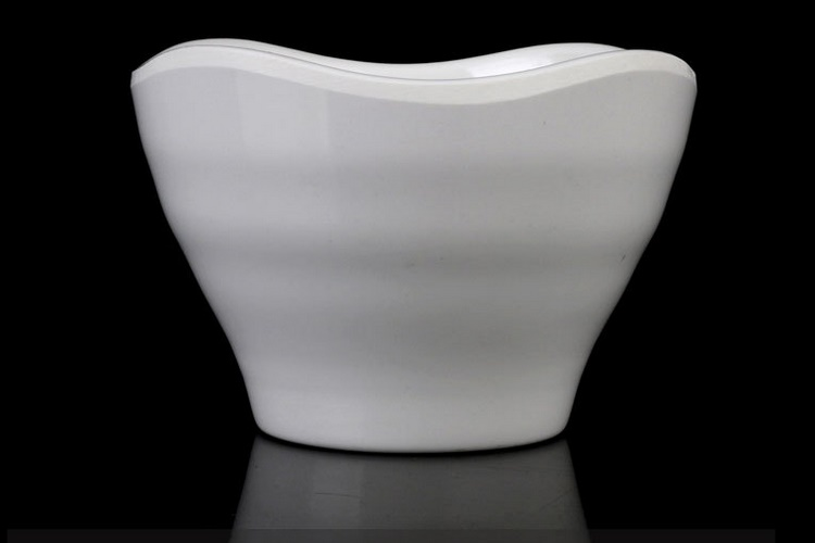 A5 Thickened Melamine Ceramic-imitated Scientific Porcelain Creative Japan-korea-style High-leg Stripes Small Bowl Soup Bowl Congee Bowl