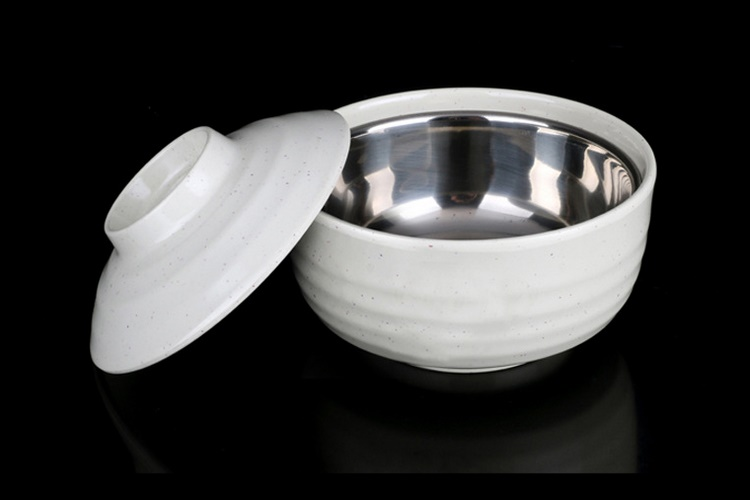 Melamine Scientific Porcelain Melamine Tableware Soup Pot Steamed Rice Steaming Pot