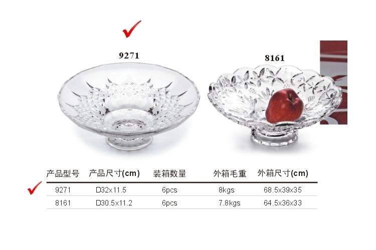 PC High-class Crystal-like Fruit Plate