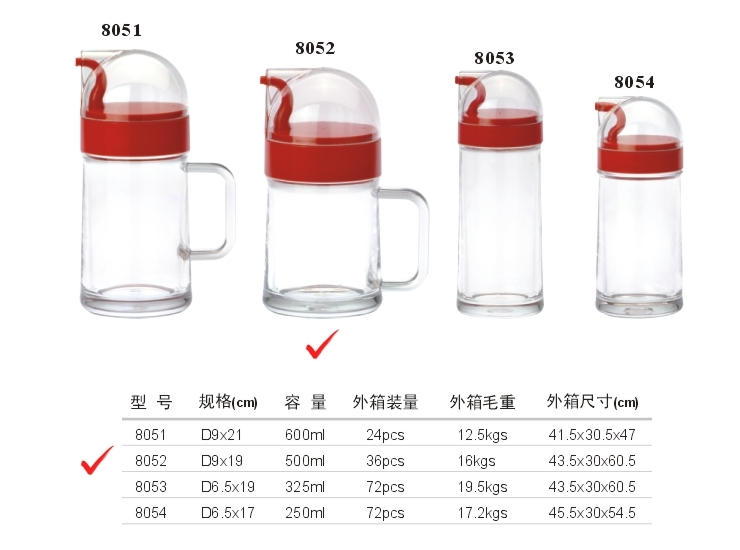 Acrylic D Series Oil Bottle (No. 2) (Red, Yellow, Green)