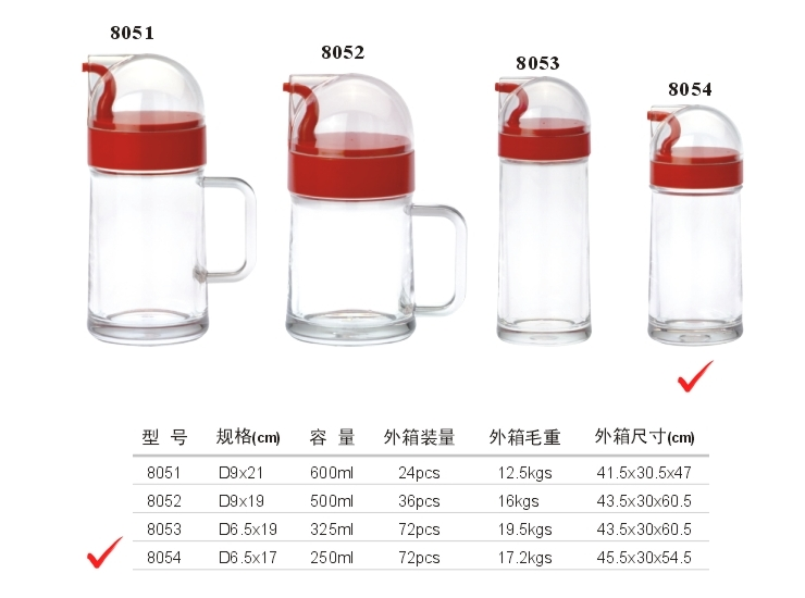 Acrylic D Series Oil Bottle (No. 4) (Red, Yellow, Green, Brown)