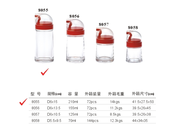 Acrylic D System Oil Bottle (5) (Red, Yellow, Green, Brown)