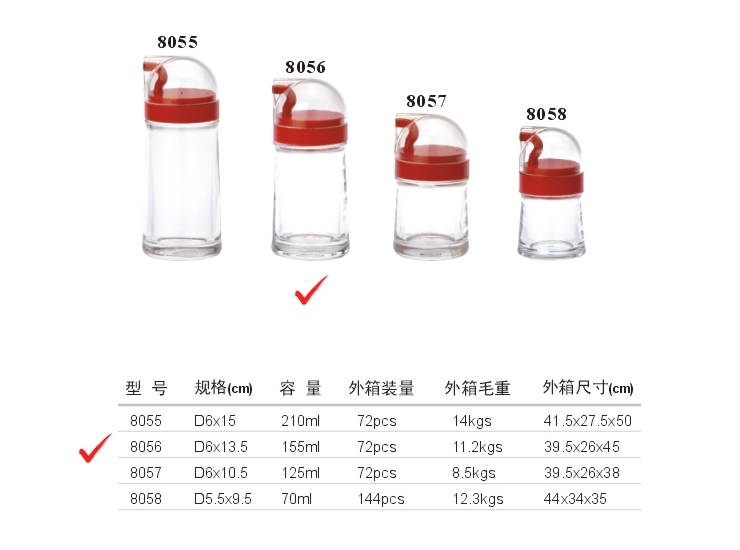 Acrylic D System Oil Bottle (6) (Red, Yellow, Green, Brown)