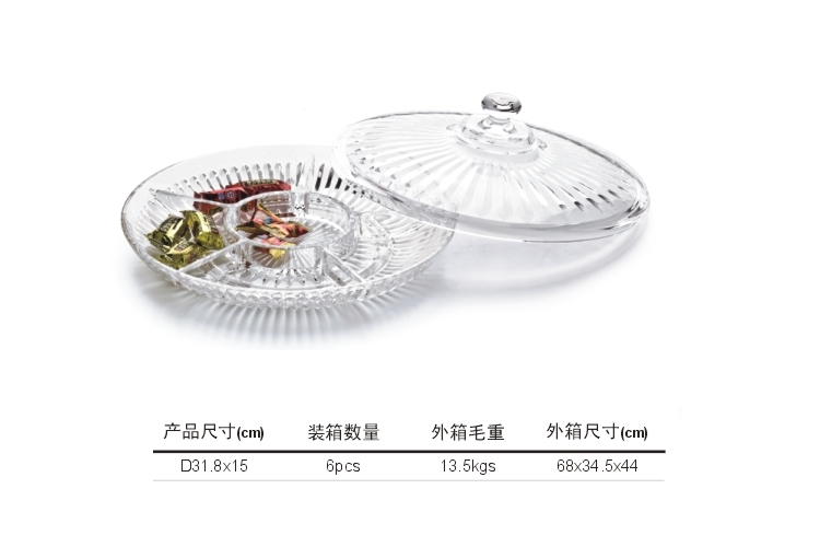 Organic Glass Acrylic Displayware Round Candy Box