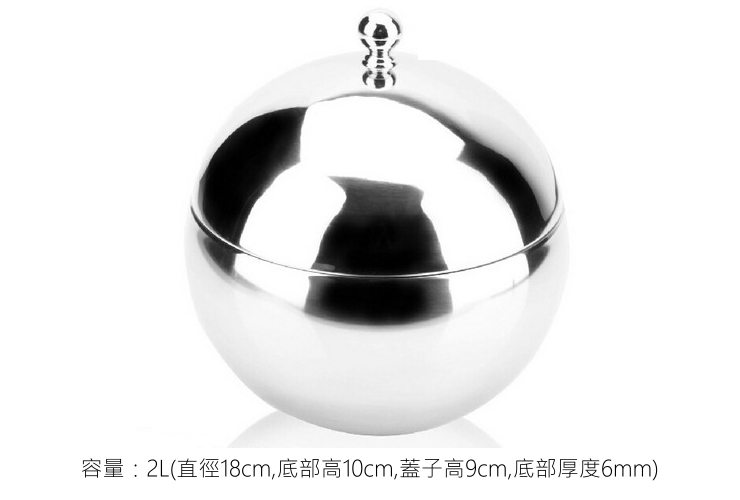 Stainless Steel Ball-shaped Double-layer With Lid Temperature-keep Ice Cube Bucket Colorful Transparent Ball-shaped Red Wine Ice Bucket