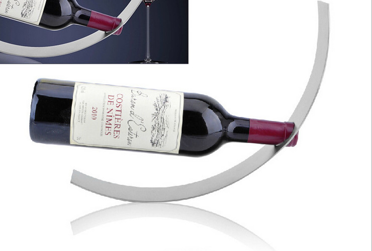 Stainless Steel Creative Crescent-shaped Red Wine Rack Wine Rack