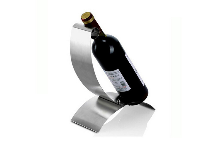 Wine Bottle Rack Stainless Steel Rolled-sided Creative Wine Rack