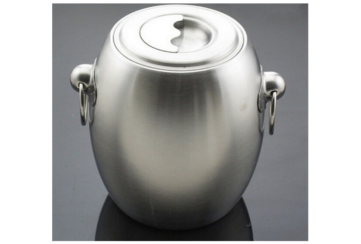Luxury Stainless Steel Classic French-style Champagne Bucket wt Lid Temperature-keepoing Ice Bucket
