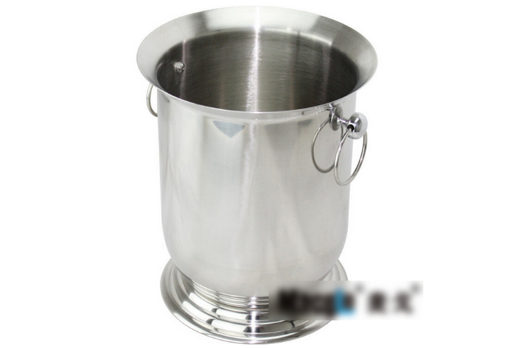 Luxury Stainless Steel Classic Champagne Bucket Single-layer Big-sized Wine Beer Ice Bucket 5L