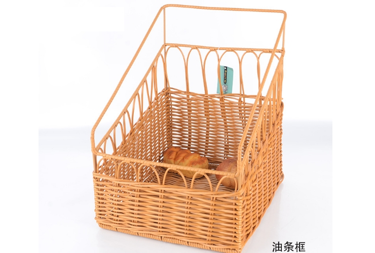 Purely Hand-made Rattan-like Square Basket Vegetable Bread Basket Storage Container