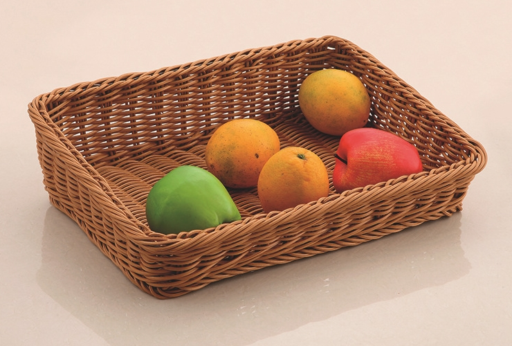 Trapezoidal Bevel Rattan-like Basket Of French Bread Basket Fruit Basket Basket Basket Supermarket Display Shows