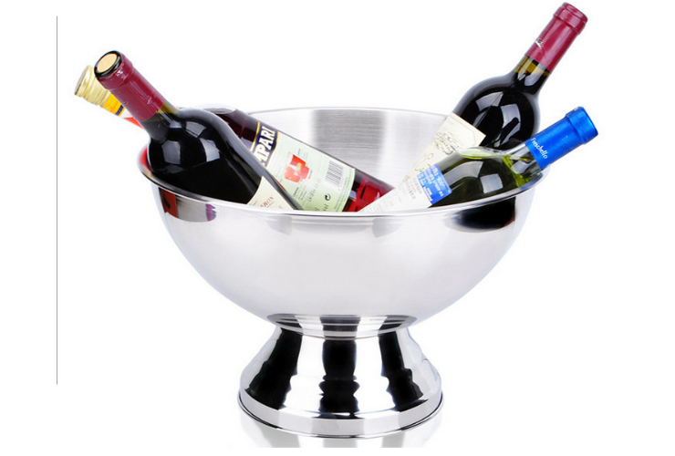 Big-capacity 304 Stainless Steel Champagne Wine Bottle Plate Bucket