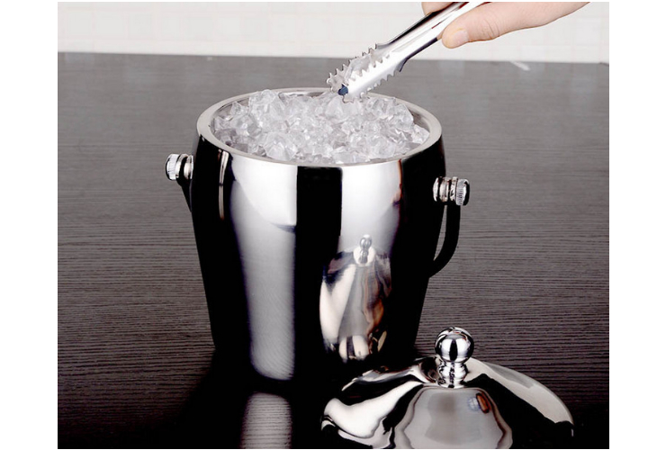 Thickened Double-layer Stainless Steel Ice Bucket