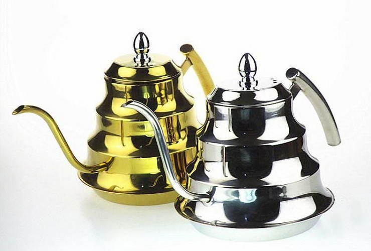 Stainless Steel Hand-pouring Coffee Pot Long-small-mouth Coffee Pot