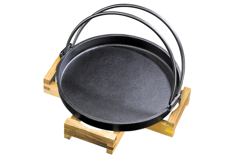 30CM Hand-carry Molded Iron Frying Pan