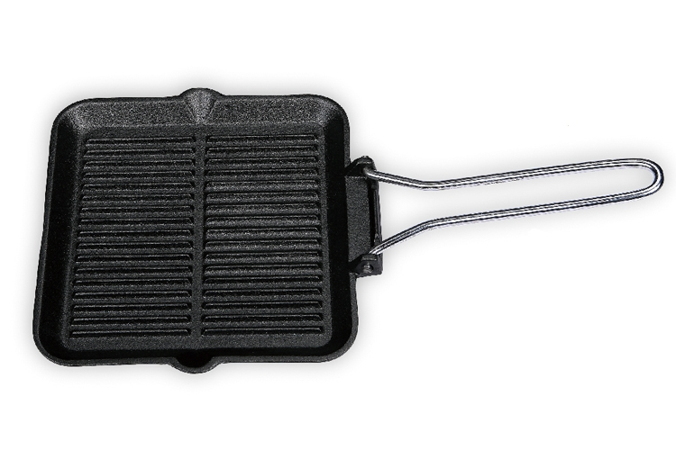 22CM Square Iron Grill Plate