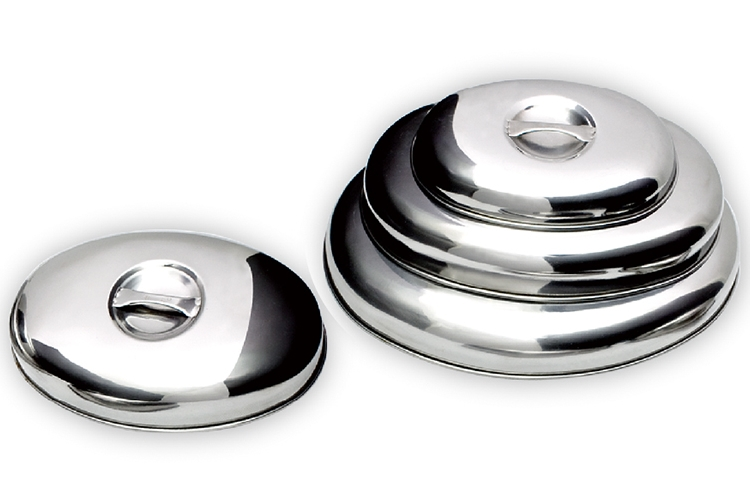 "14"" Egg-shaped Stainless Steel Food Lid"