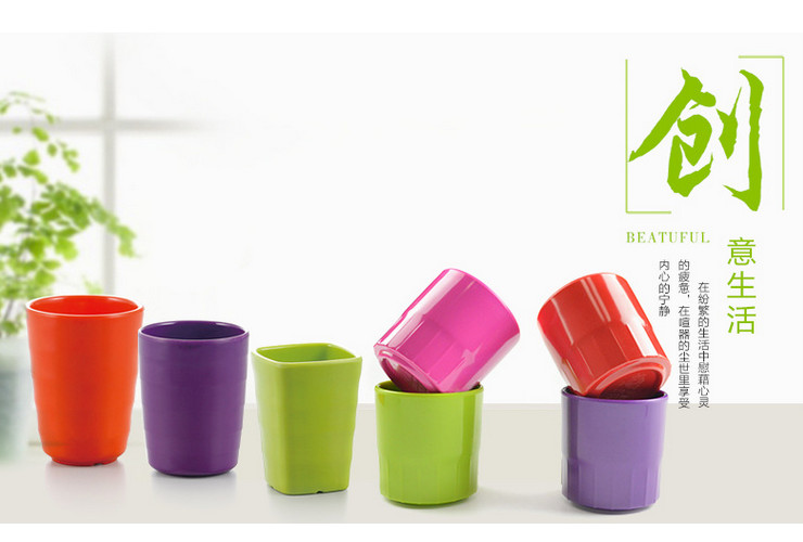 Ceramic-like Melamine Colorful Cups