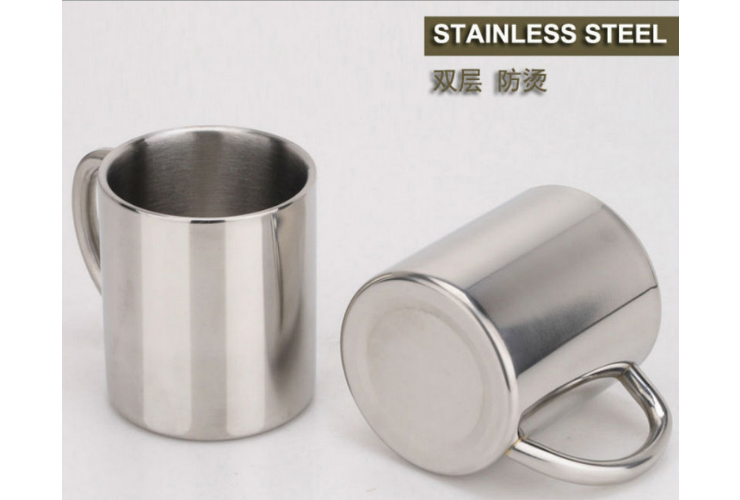 220ML Creative Stainless Steel Coffee Cup Double-layer Vacuum