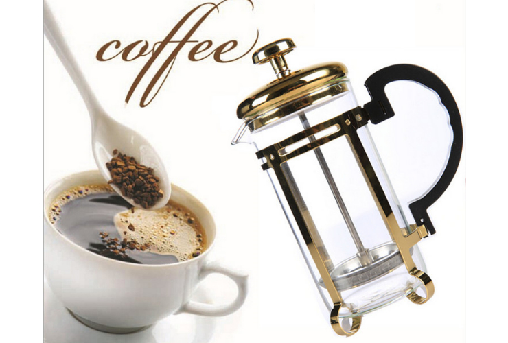 Stainless Steel French Press Coffee Maker Filter Coffee Pot Hand Punch Tea Tool Heat-resistant Liner 350Ml