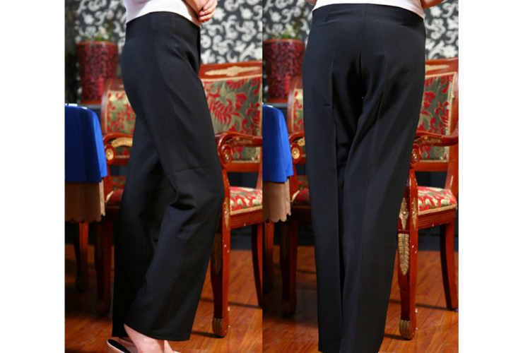 Women Thin-style Black Slimming Work Pants Straight Long Pants