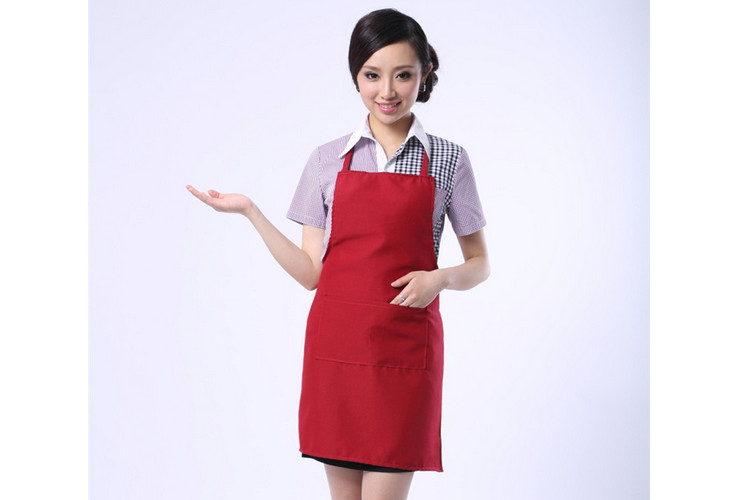 Korean-style Different Colors of Aprons for Restaurant Coffee Shop Workwear